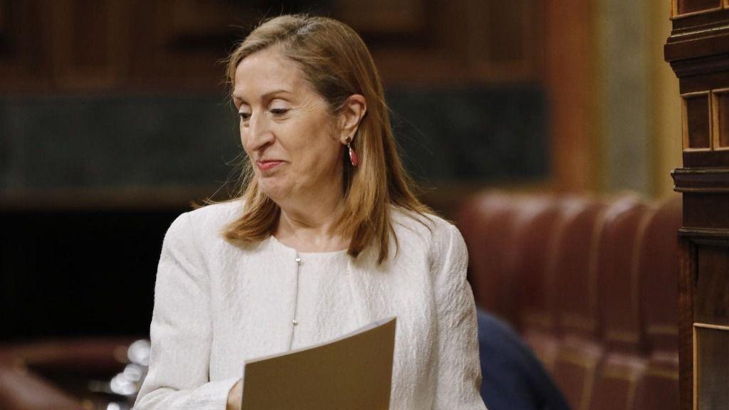 La vicepresidenta segunda del Congreso y diputada del PP, Ana Pastor, se dirige a intervenir en una sesión plenaria en el Congreso de los Diputados, en Madrid