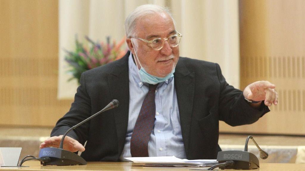 El director general de Tráfico, Pere Navarro, durante la presentación del informe sobre delitos de seguridad vial y su incidencia en el ámbito penitenciario, en la sede de la DGT, en Madrid (España), a 27 de julio de 2020.