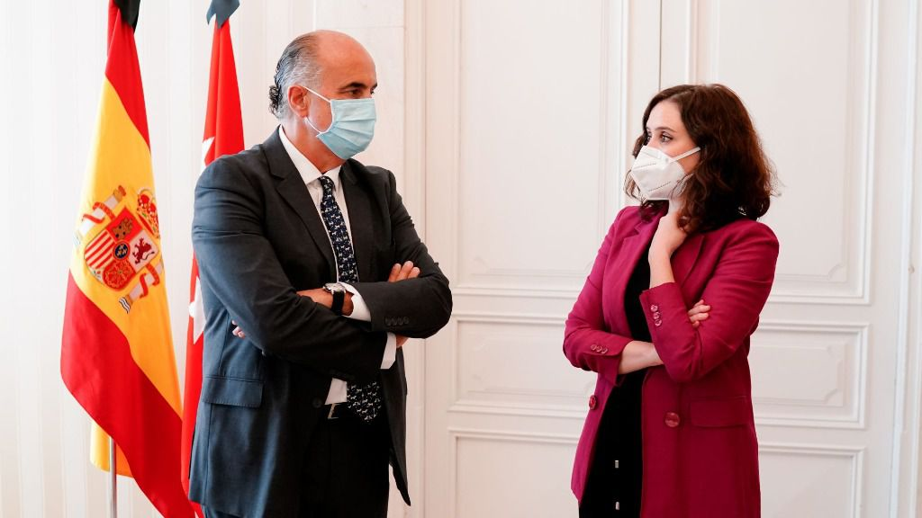 Isabel Díaz Ayuso y Antonio Zapatero