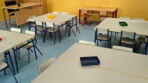 Aula en un colegio de Getafe