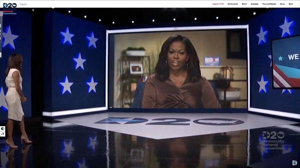 Michelle Obama participa en la Convención Nacional Demócrata