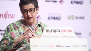 La ministra de Asuntos Exteriores, Unión Europea y Cooperación, Arancha González Laya,