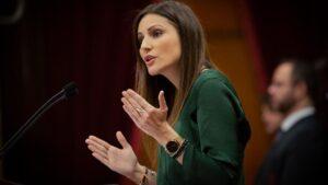 La portavoz de Ciudadanos en el Parlament de Catalunya, Lorena Roldán