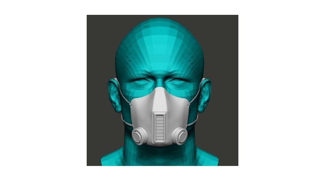 Una mascarilla capaz de eliminar el virus mientras se respira gracias a una cortina de láser UV-C de energía dirigida.