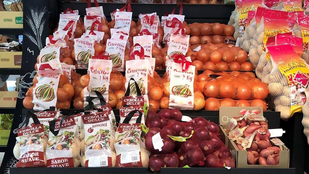 Cebollas disponibles en la sección Fruta y Verdura de Mercadona