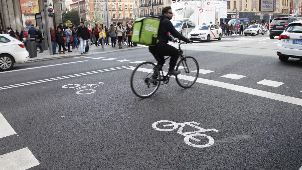 Uber eats rider bicicleta