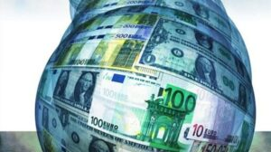 Divisas globo dinero billetes