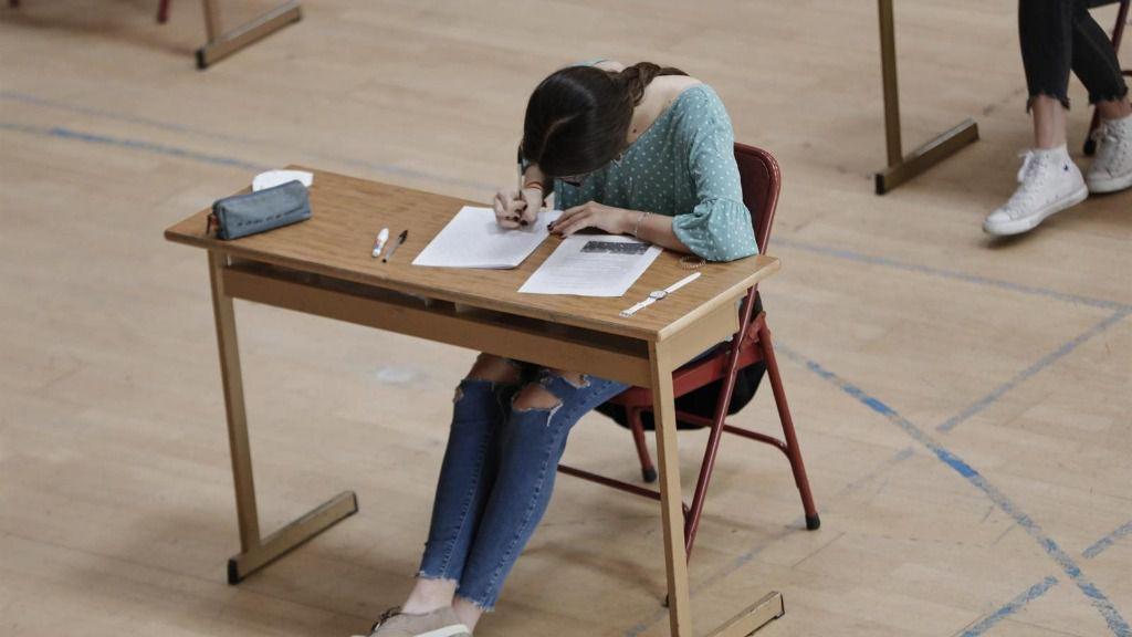Una alumna de bachillerato del Colegio Virgen de Europa de Boadilla del Monte (Madrid)