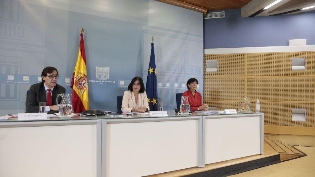 Isabel Celaá, Salvador Illa y Carolina Darias