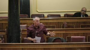 El portavoz de Compromís en el Congreso de los Diputados, Joan Baldov, en un Pleno.