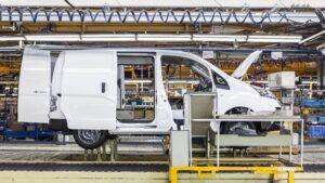 Producción de la e-NV200 en la planta de Nissan en Barcelona