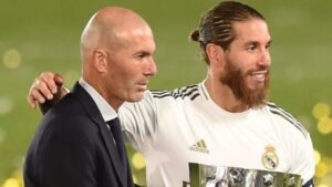 Zinedine Zidane y Sergio Ramos