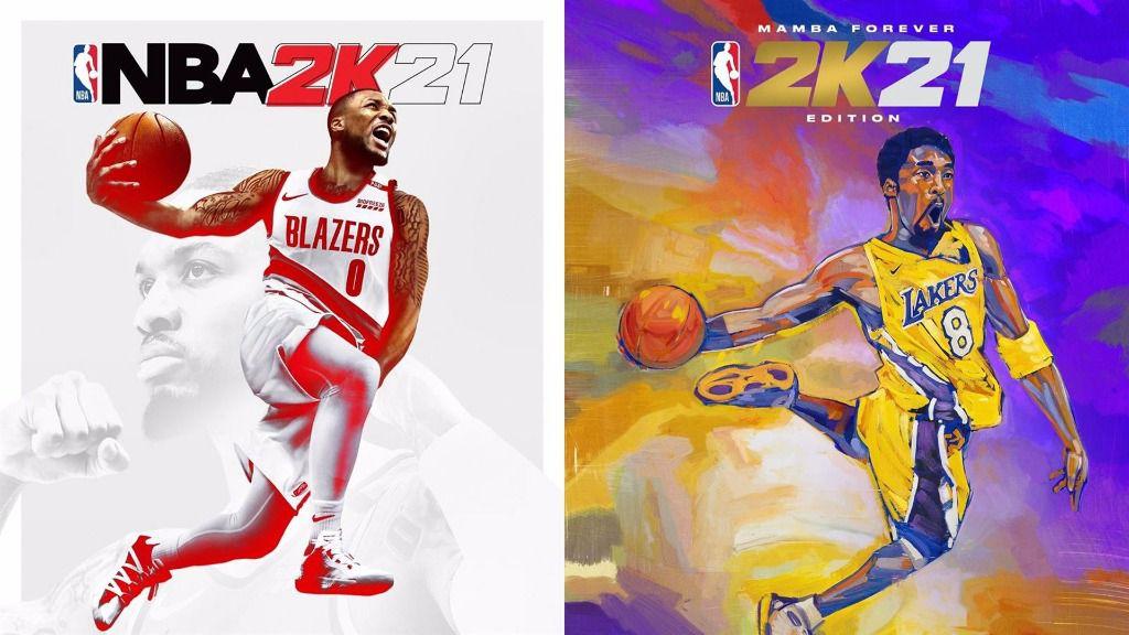 Portadas de la edición de 2021 del videojuego NBA 2K21