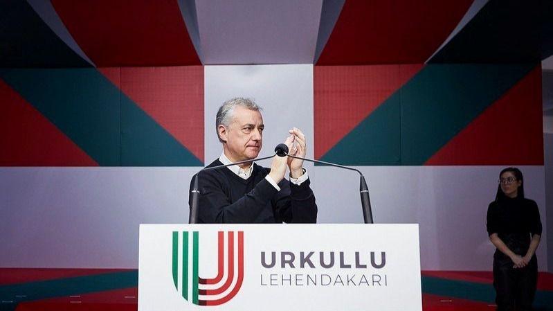 El Lehendakari y candidato a la reelección del PNVm Iñigo Urkullu