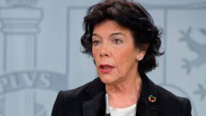 Isabel Celaá, portavoz del Gobierno y ministra de Educación