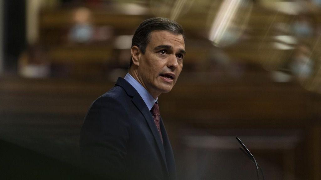 El presidente del Gobierno, Pedro Sánchez, interviene en una sesión plenaria en el Congreso, en Madrid (España)