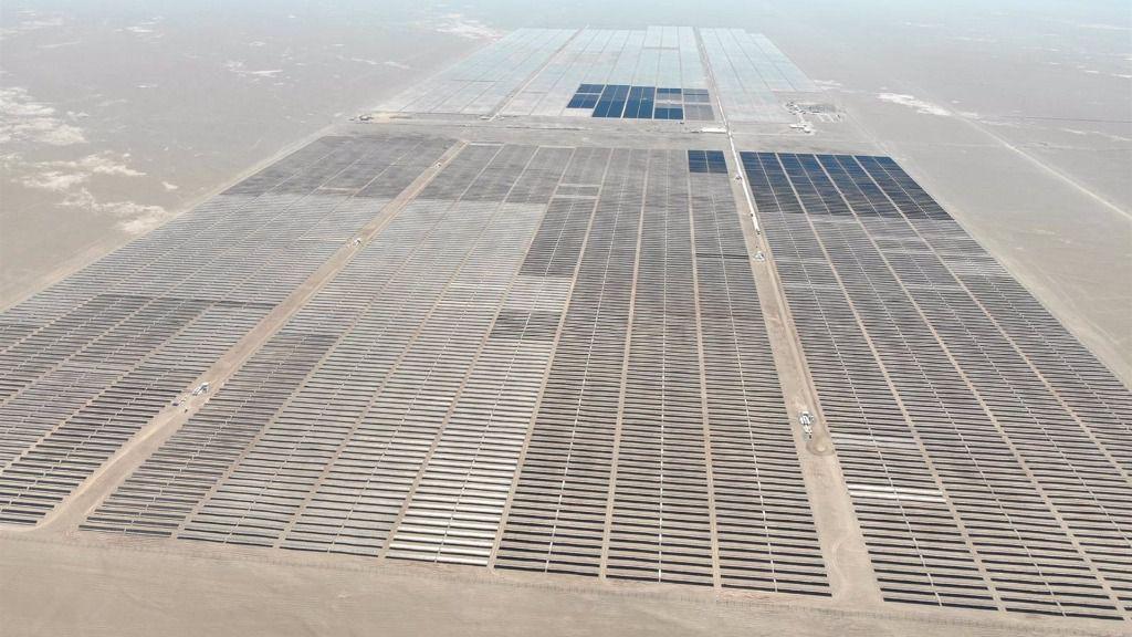 """Imagen de la planta solar """"Granja"""" de Solarpack en Chile"""