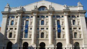 La Bolsa Italiana, situada en la Piazza degli Affari, Milán