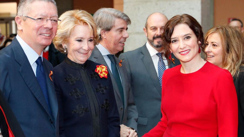 Isabel Díaz Ayuso, Esperanza Aguirre y Alberto Ruiz Gallardón