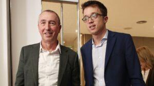 El diputado de Compromís, Joan Baldoví y el líder de Más País, Íñigo Errejón