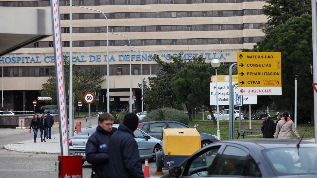 Puerta de acceso al recinto del Hospital Gómez Ulla de Madrid