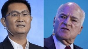 Ma Huateng, fundador de Tencent, y Henry Kravis, fundador de KKR