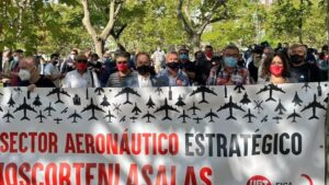 Manifestación sector aeroespacial 22 de septiembre 2020.