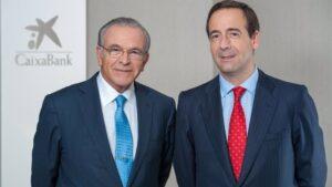 El presidente de la Fundación La Caixa, Isidre Fainé, con el consejero delegado, Gonzalo Gortázar.