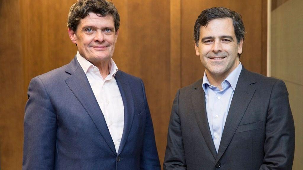 El presidente de Sareb, Jaime Echegoyen, y el futuro consejero delegado, Javier García del Río