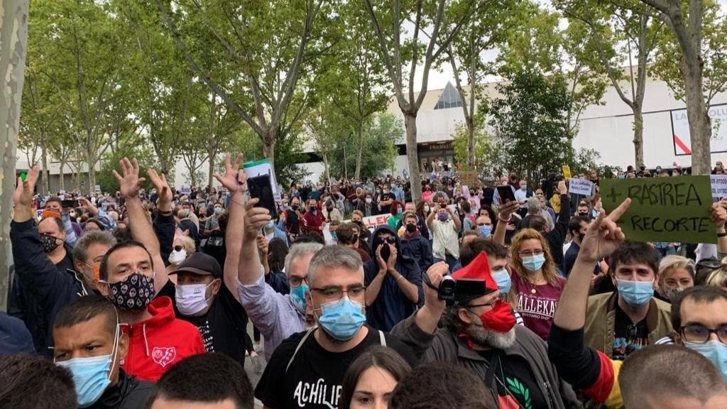 Movilizaciones frente a la Asamblea de Madrid