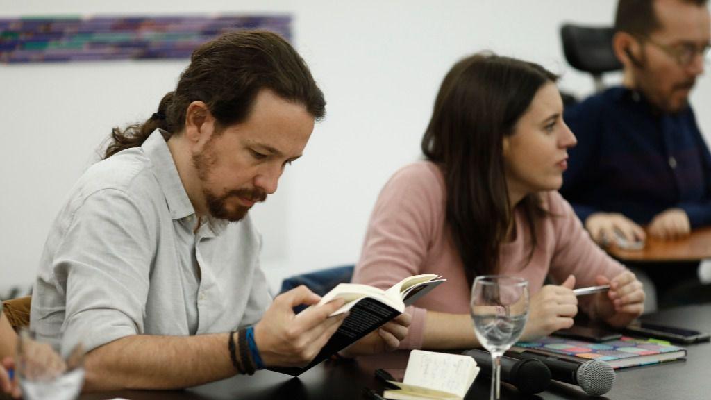El vicepresidente segundo del Gobierno y líder de Podemos, Pablo Iglesias, y la ministra de Igualdad, Irene Montero