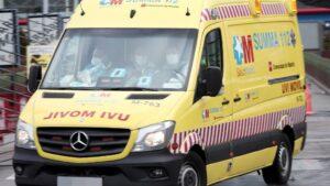 Una ambulancia del SUMMA 112 llega a Ifema