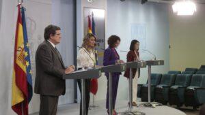 José Luis Escrivá, Yolanda Díaz, María Jesús Montero y Carolina Darias