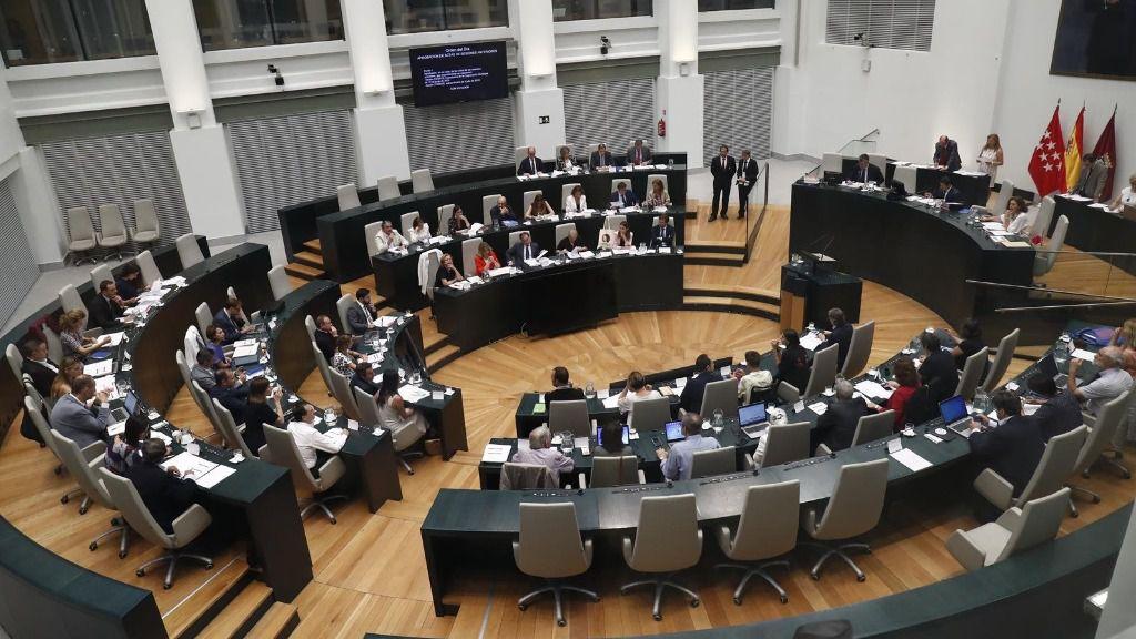 Vista del hemiciclo de la sala de sesiones del Ayuntamiento de Madrid