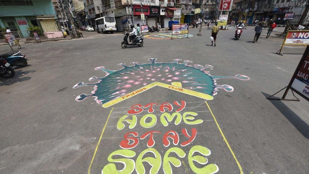 Mensaje sobre el coronavirus en India