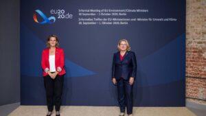 La vicepresidenta cuarta del Gobierno y ministra para la Transición Ecológica y Reto Demográfico, Teresa Ribera, asiste en Berlín (Alemania) al Consejo informal de minsitros de Medio Ambiente de la UE