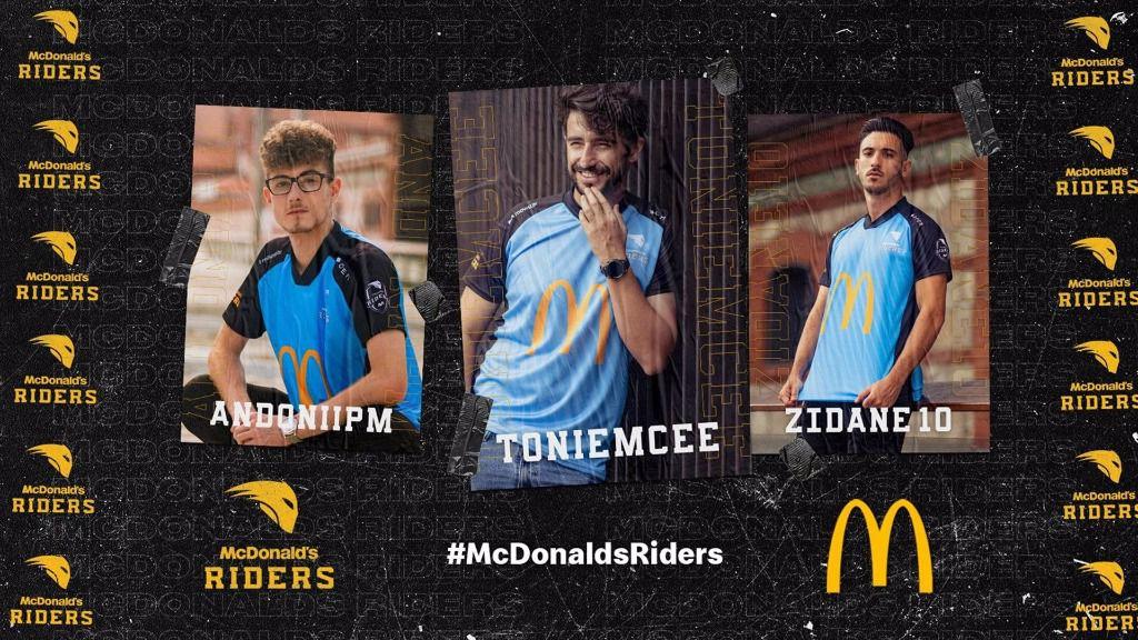 Integrantes del equipo McDonald's Riders.