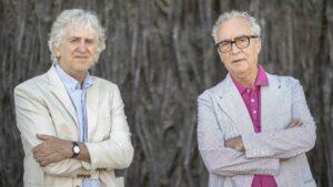 El escritor y periodista Juan José Millás, y el paleontólogo Juan Luis Arsuaga