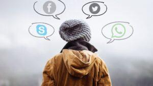 redes sociales twitter facebook skype whatsapp