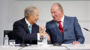 el Rey Juan Carlos I con el empresario Juan Miguel Villar Mir