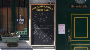 Bar cerrado en Bruselas