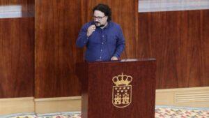 El portavoz adjunto de Unidas Podemos, Jacinto Morano