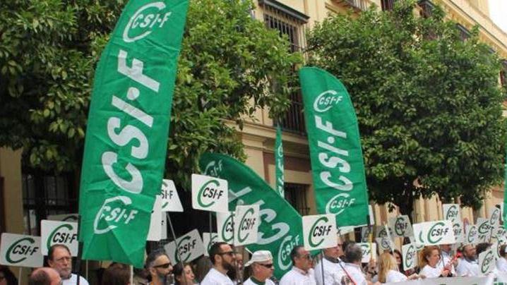 Manifestación del CSIF