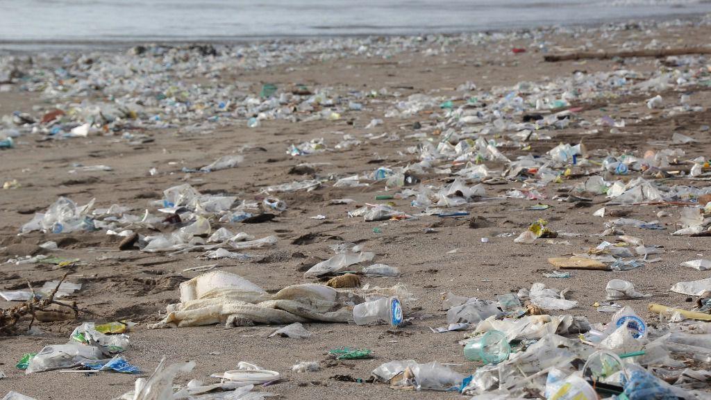 Plásticos playa contaminación