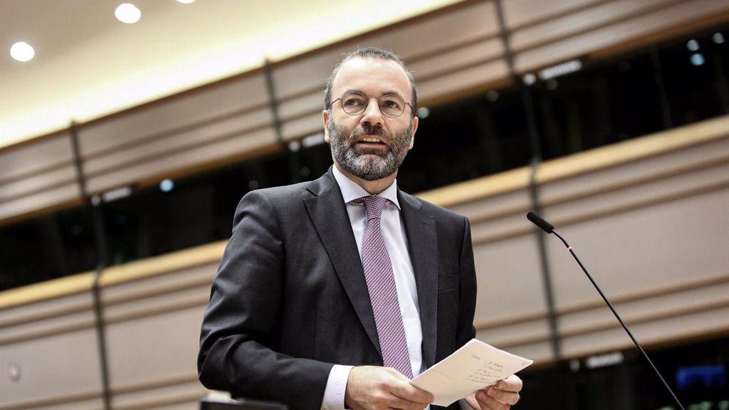 El presidente del Grupo Parlamentario Popular en el Parlamento Europeo, Manfred Weber