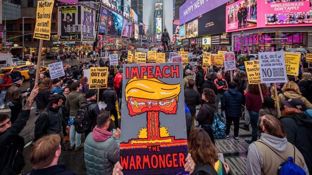 Manifestación contra la guerra en Nueva York