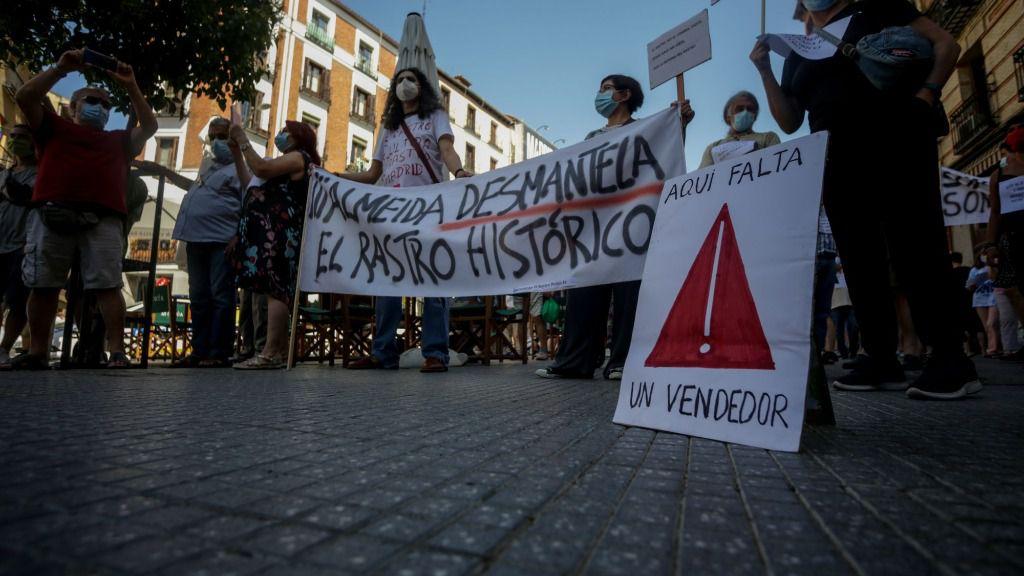 Comerciantes del Rastro se manifestarán por cuarto domingo consecutivo en defensa de sus ubicaciones habituales