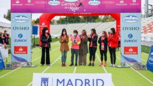 La vicealcaldesa de Madrid, Begoña Villacís, durante la celebración de una nueva edición de la Carrera de la Mujer de Madrid que este año se celebra de manera virtual, en el Estadio Vallehermoso, Madrid (España) a 25 de octubre de 2020