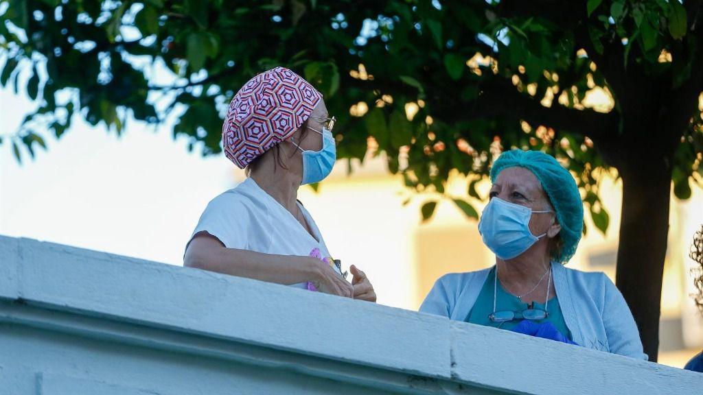 Sanitarios del Hospital Virgen del Rocío