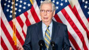 El senador por Kentucky y líder del partido republicano en el Senado, Mitch Mcconnell